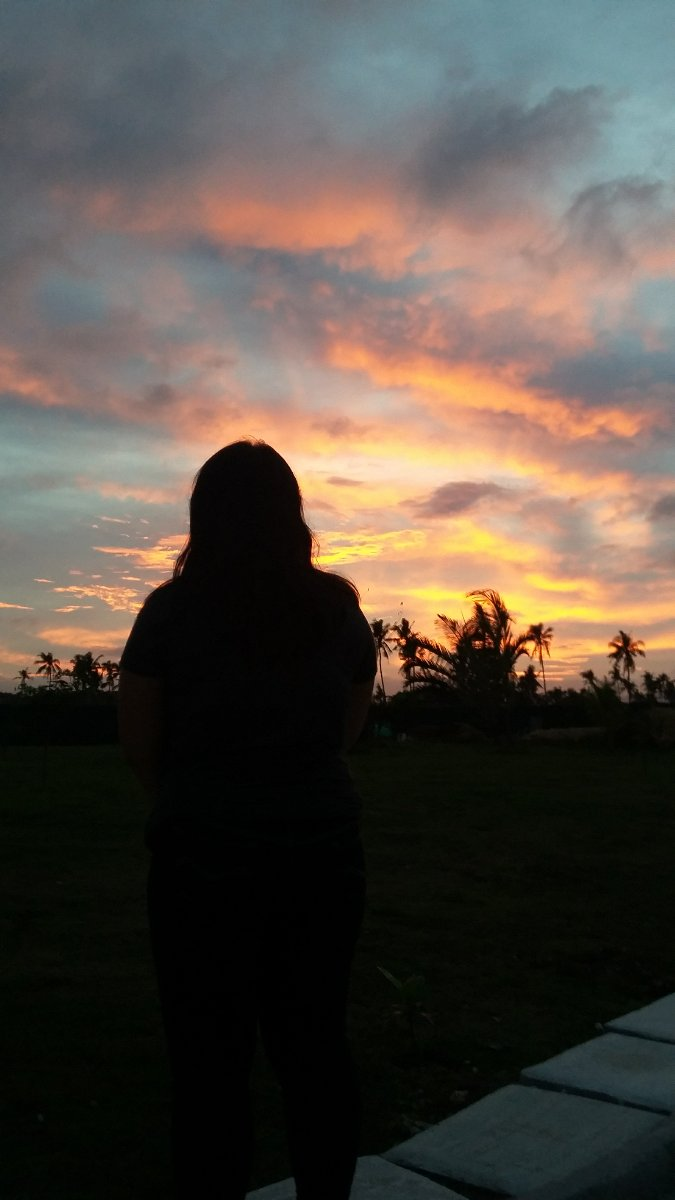 Silhoutte, sunset