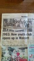 paper from 2008, 25 year anniversary of Walcott Youth Club