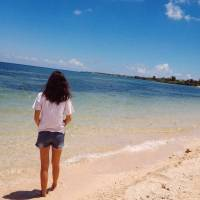whitesand, beach, cebu, friends, fun , blue, sun