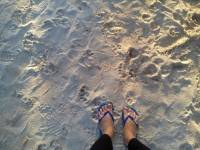 sand on my feet