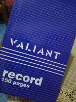 blue valiant record notebook one fifty pages