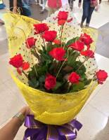 bouquet, of, flowers, red, roses, thank you, love love, mwaaaaaaah, happiness, smile