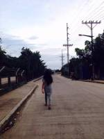 cousin, walking, in, the, street, alone, time, gray, shirt, and, jeans