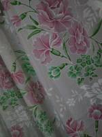 flower designed curtain at home