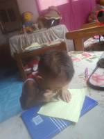 baby, gaven, busy, writing, his, name