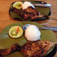 grilled chicken delicious mouth watering the best with rice and sauce happy tummy satisfied