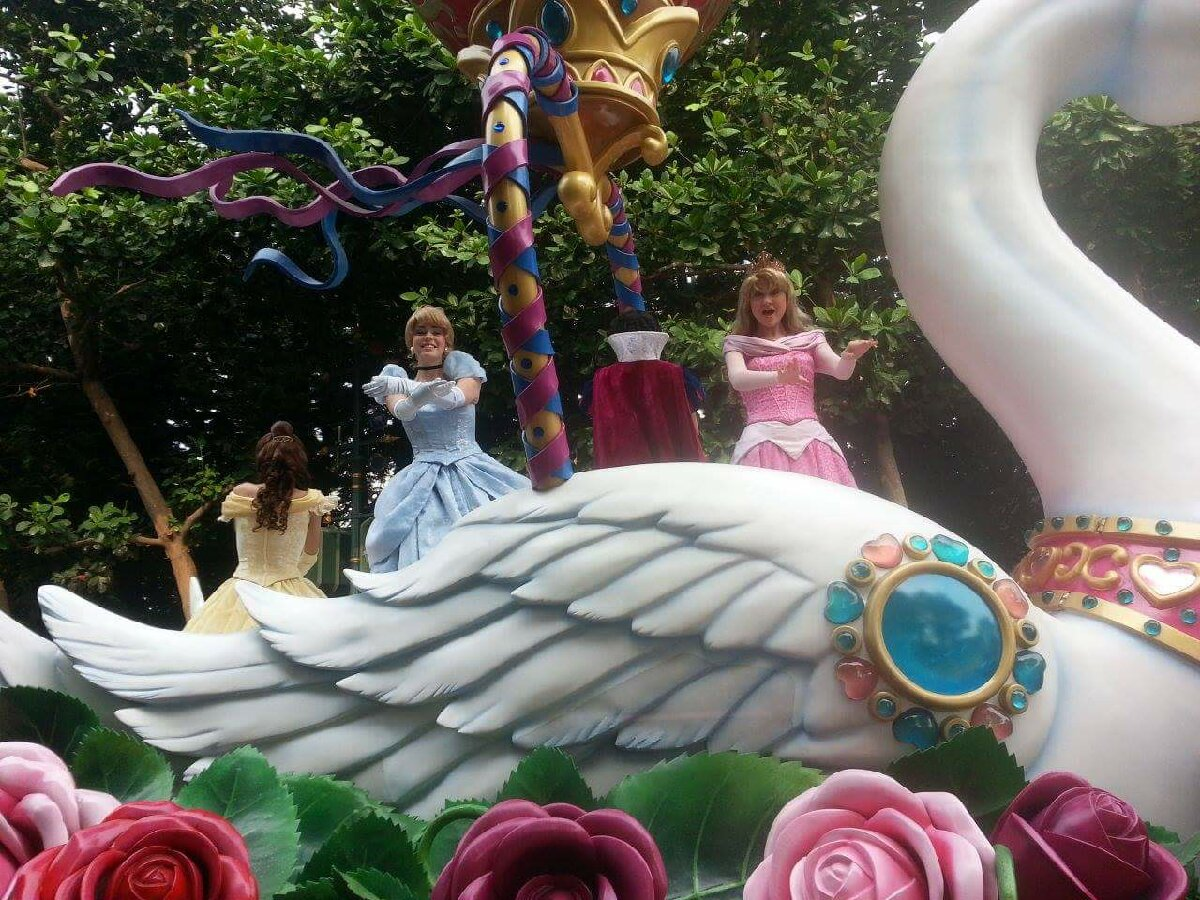 Princesses,Hong Kong disneyland street parade