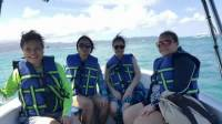 Mommy together with her friends, safety first, saved by thelife jackets hahah, always ready to swim