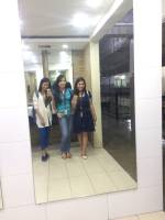 Mirror groupie with these beautiful girls, trio girls, school girls