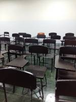 Empty, chairs, classroom