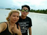 me and my cousin in Bantayan Island