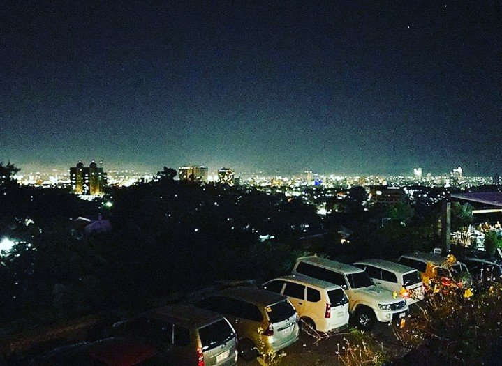 City lights, cebu night