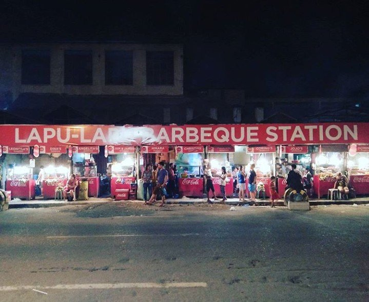 Lapu-lapu barbeque station,  along the street
