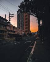 A place in cebu, street, sunset