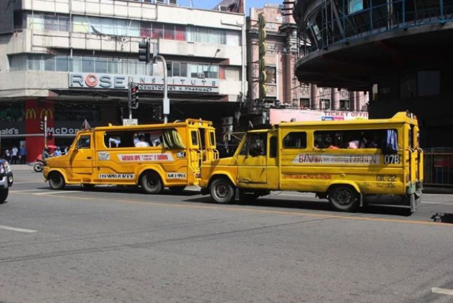 yellow jeepneys