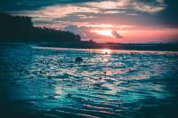 Sunset, Nature, Beach, Lowtide, Sand, Landscape,