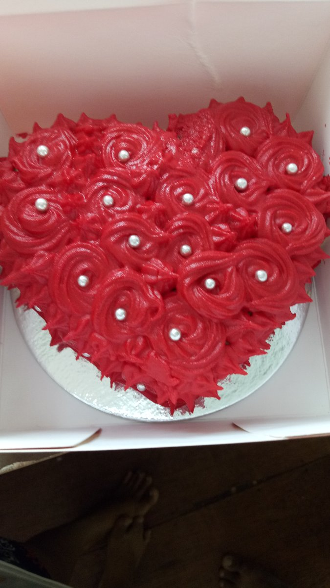 cake, heart, valentines, love, red