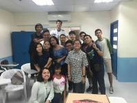 picture with classmate