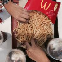 Just the 3 of us #bfffries #Mcdo