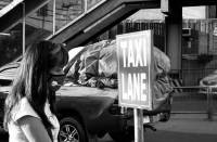 Blackandwhite,  street photo,  story,  taxi lane