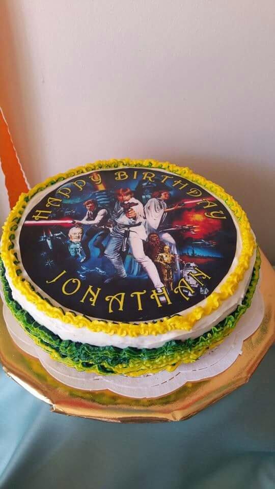 Star Wars Birthday Cake Made By My Sister Lemon Cake Happy