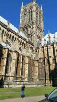 Lovely day, sunny day, Lincoln Cathedral, Lincoln, England, UK