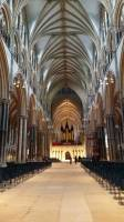 View inside of Lincoln Cathedral, most precious piece of architecture in British isles, Lincoln Cathedral, Lincoln, Lincolnshire, England, UK