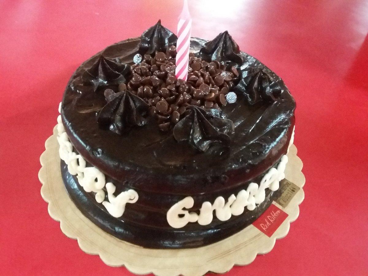 Cake Red Ribbon Birthday Cake Photo Uploaded By Nenur241
