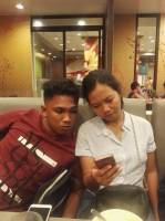 Sweet couple hahahaha
