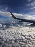 clouds, airplane, sky, cool