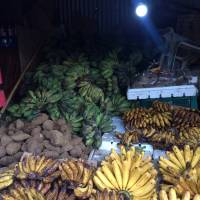 Bananas for sale, at the mercado