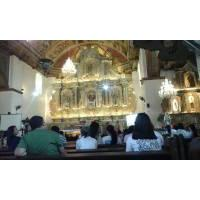 the altar of argao church in cebu