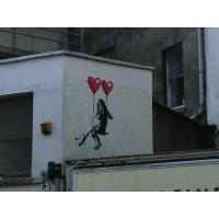 Girl on a Swing, Banksy, Bristol